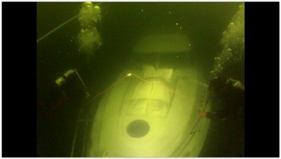 vene on tasaisella hiekkapohjalla 15m syvyydessä. Näkyväisyys oli hyvä.