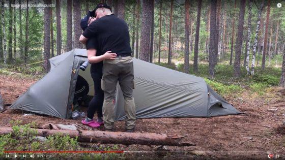 Isojärven kansallispuistossa, 23.hääyö metsässä.